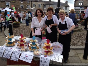 Jackie, Diane and Brenda from Massey's Tearoom - a proper traditional tea room
