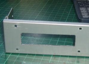 16x2 display mount using hand tools