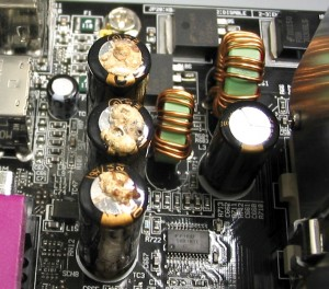 Leaky Motherboad Capacitors